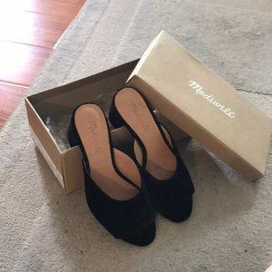 NIB Madewell velvet mule sandals